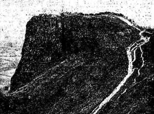 Grainy black-and-white photo from Irish Examiner (3rd July 1926) showing the crowd on Cavehill for the Wolfe Tone commemoration.