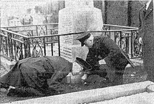 RUC inspect damage after bombing (Irish Press, 20th January 1939).