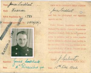 Jimmy Steele in disguise on his Firemans Warrant card.