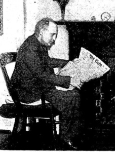 Stephen Hayes, photographed in The Irish Times, 1/24/53