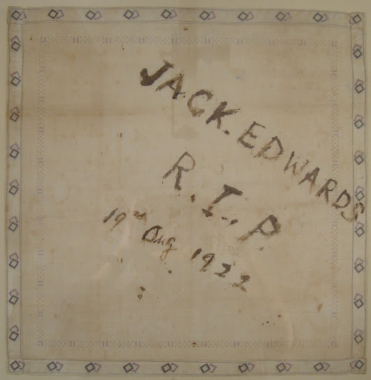 John Edwards blood-stained handkerchief