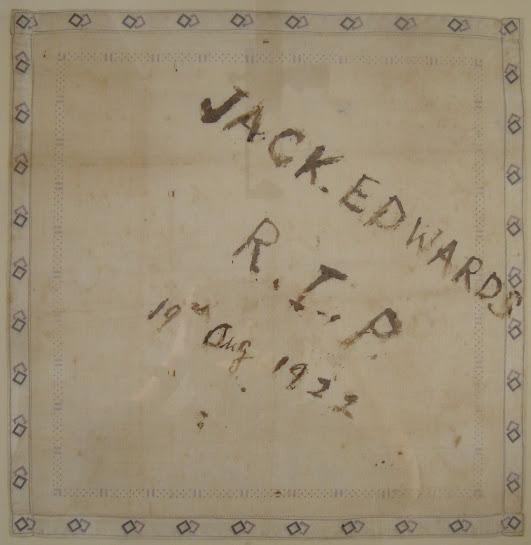 John Edwards blood-stained handkerchief